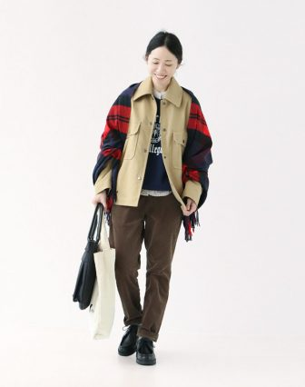 SHINZONE/BIG COLLR JACKET