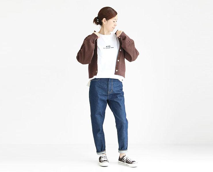 A.P.C.(アーペーセー) Tシャツ Petite Rue Madame(25082193305)レディースコーディネート
