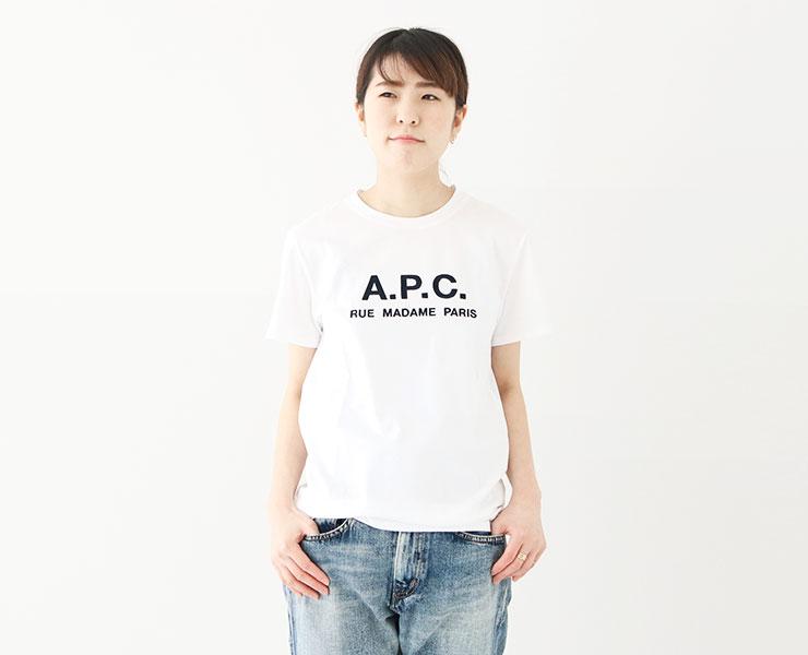 A.P.C.(アーペーセー) Rue Madame Tシャツ(25082193301)レディースコーディネート