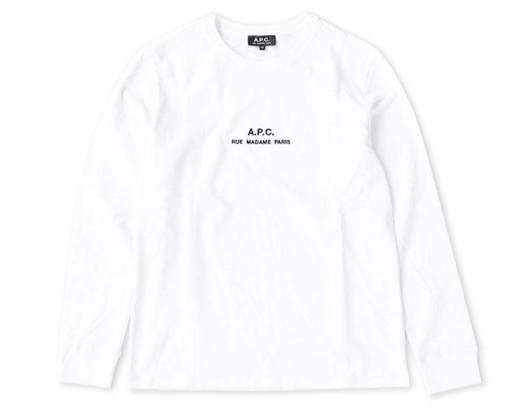 A.P.C.(アーペーセー) Petite Rue Madame 長袖Tシャツ(25082193304)