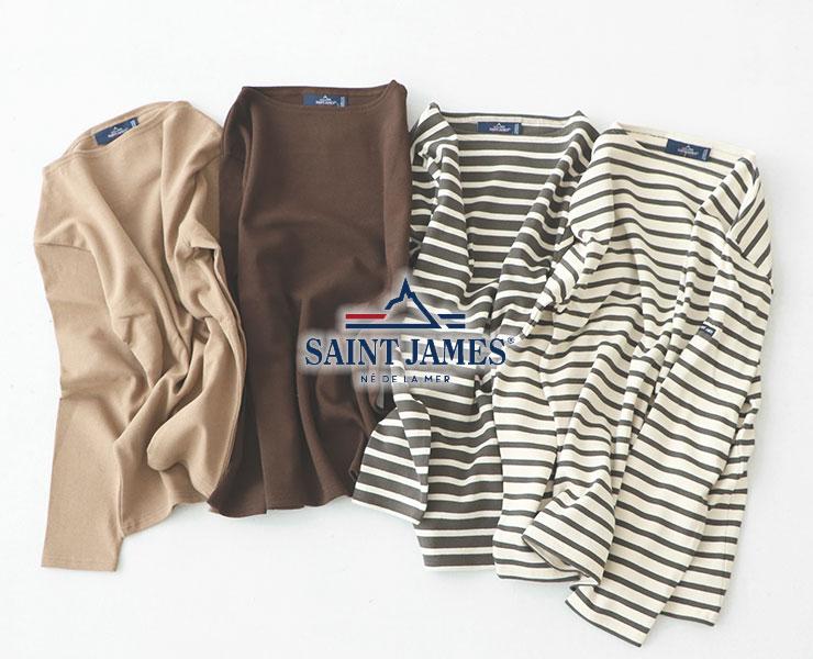 《新色&人気色入荷》SAINT JAMES(セントジェームス) ウエッソン/バスクシャツ